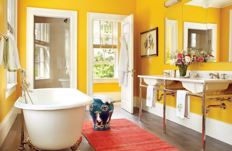 16 Colourful Bathroom Ideas to Create the Most Soothing Environment (15)