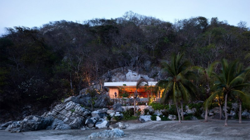 Discover The Modern Home Built In A Rocky Slope by CDM