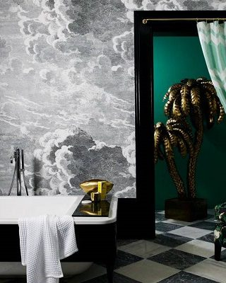 Revamp Your Luxury Bathroom Decor With Unique Wallpapers ➤ #covetedmagazine #interiordesign #homedecor #luxuryinteriors #luxurybathroomdecor #luxurybathroom ➤ www.covetedition.com ➤ @covetedmagazine @bocadolobo @delightfulll @brabbu @essentialhomeeu @circudesign @mvalentinabath @luxxu @covethouse_ @rug_society @pullcast_jewelryhardware @bybrabbucontract