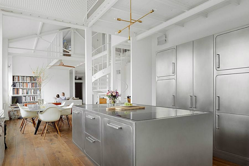 Be Inspired By This Amazing Industrial Style Kitchen In Paris