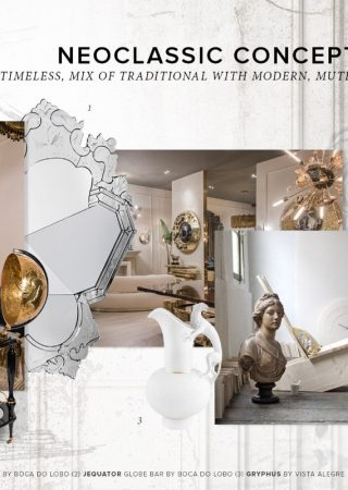 Interior Design Tips: Moodboard Based on the Neoclassic Concept