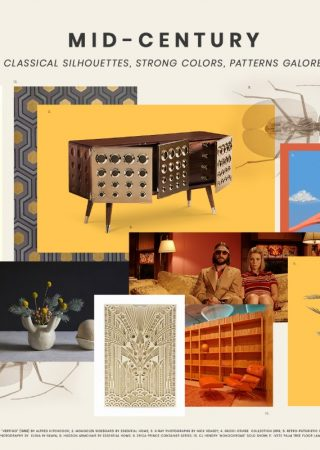 Interior Design Tips: Two Moodboards Inspired by the Mid-Century Style