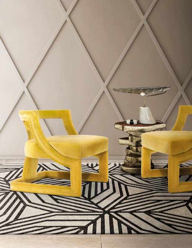 Mellow yellow chair from Brabbu