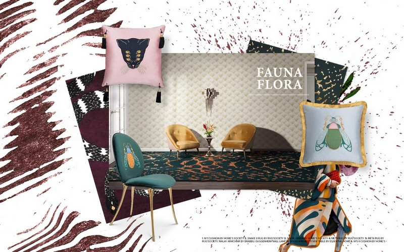 Interior Design Tips Welcome Nature With Fauna and Flora Moodboards