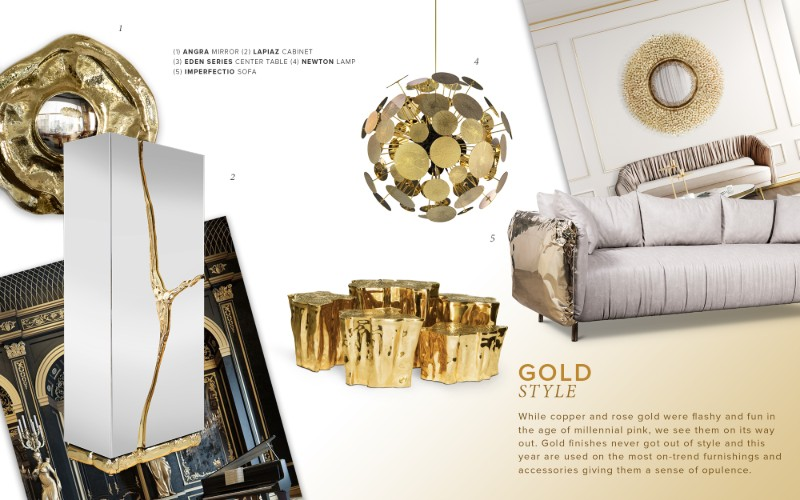 Discover The 2019 Trend Materials For A Gold Accent
