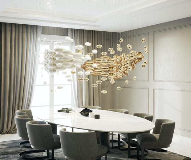 Sans Souci's Dining Room Light Designs From Euroluce 2019