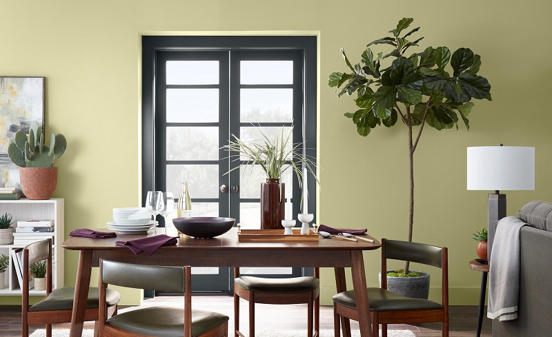 Back to Nature In A Modern Dining Room