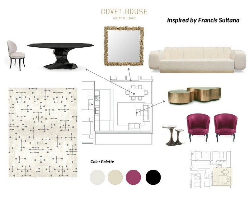 Exquisite Moodboards Inspired by Best Interior Designers Francis Sultana