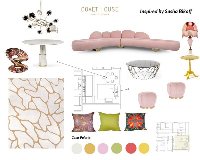 Exquisite Moodboards Inspired by Best Interior Designers Sasha Bikoff