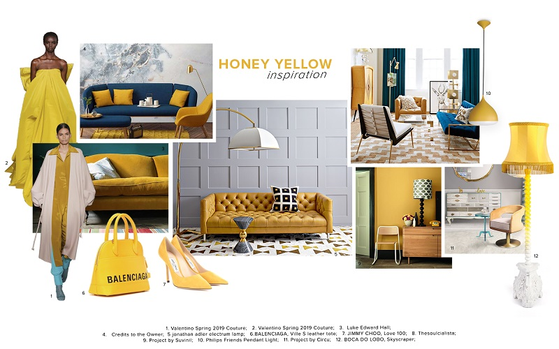 Honey Yellow Trend Color Scheme Moodboard Collection 1