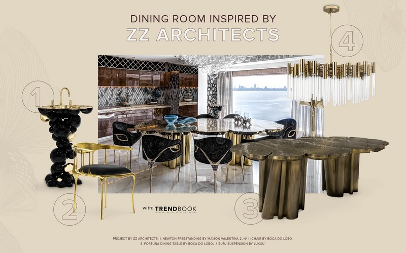 Luxury Dining Room Design Inspired by ZZ Architects
