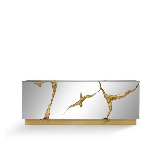 EXCLUSIVE DESIGN: LUXURY SIDEBOARDS WITH UNIQUE GOLDEN DETAILS