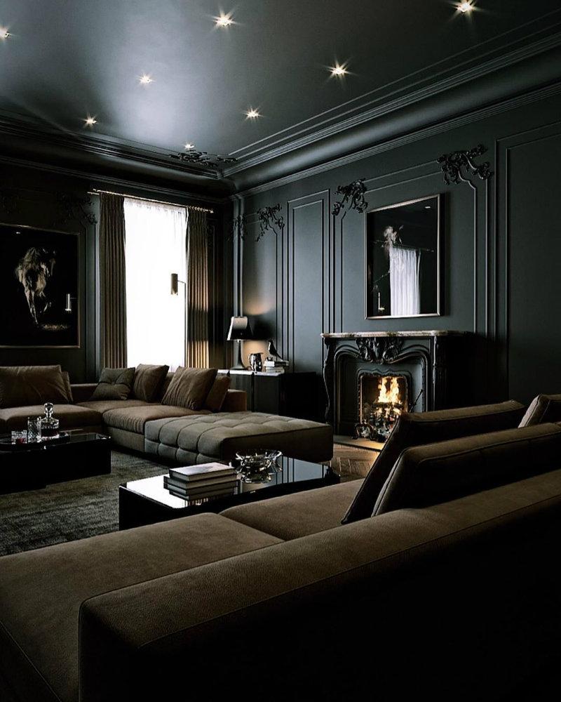 Take a Walk On The Dark Side: Black Interior Design Ideas