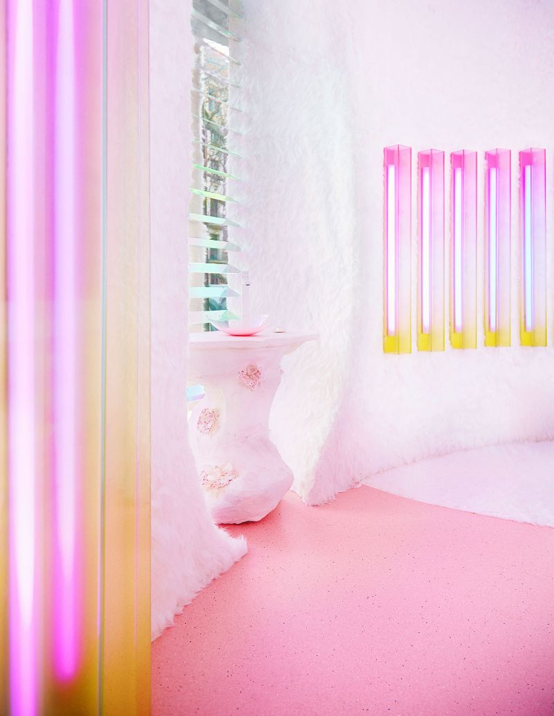 Patricia Bustos Studio Creates A Neon-Inspired Bathroom Design