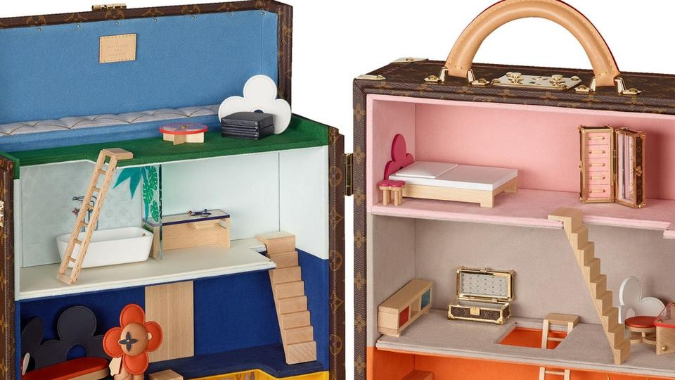 Louis Vuitton Debuts New Dollhouse Enclosed Within Their Signature Monogrammed Canvas Trunk