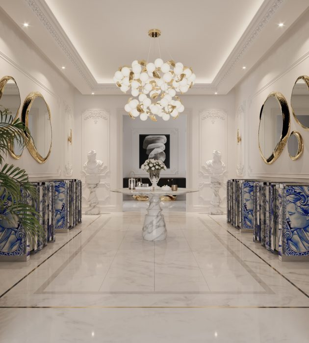 A Luxury Entryway Gallery That Welcomes You Into A Modern Penthouse