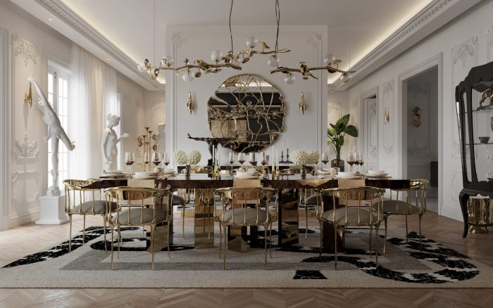 Get The Look Of This Luxury Dining Room Inside Parisian Penthouse