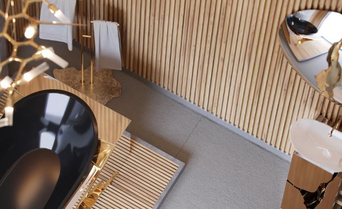 Extravagant Contemporary Master Bathroom by Natan Argente