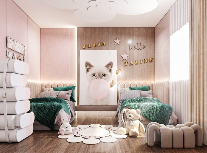 HOLLYWOOD GLAMOUR BEDROOM BY SALAH ELMASRI DESIGN