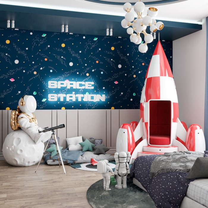 AN OUTER SPACE MISSION BEDROOM by Renata Aquino/Cozy Studio