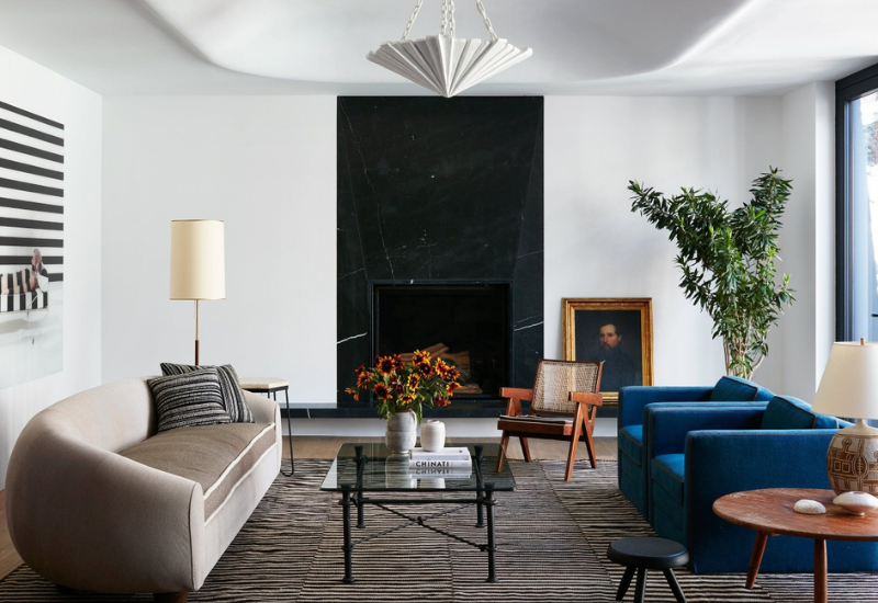 LIVING ROOM DESIGN: A PENTHOUSE IN NEW YORK CITY