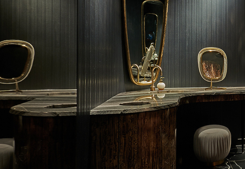 POWDER ROOM DESIGN: LUXURIOUS AND DECADENT SPACE