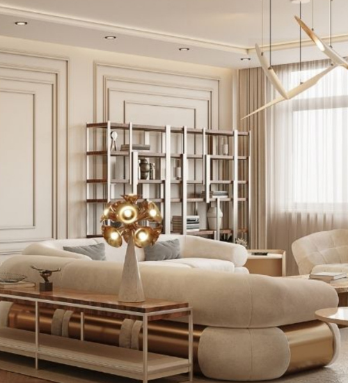LIVING ROOM: CONTEMPORARY AND MODERN BY CAFFE LATTE