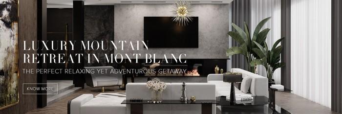 Luxury mountain retreat in mont blanc