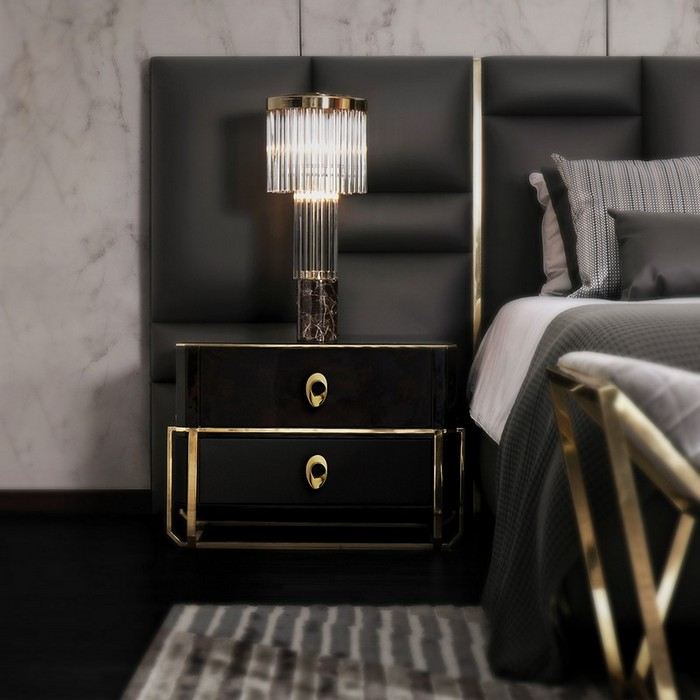 Luxury bedroom nightstand