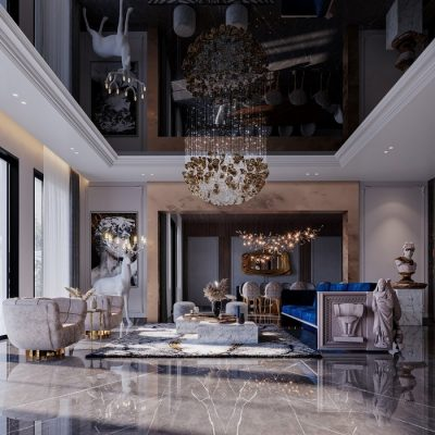 EXUBERANT AND ARTSY LIVING ROOM BY K.A. INTERIOR DESIGN